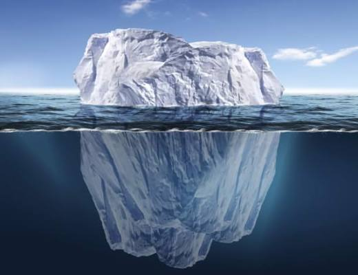 Only an estimated 18 percent, or one in five cases, is reported. This is what has come to be known as the iceberg theory.