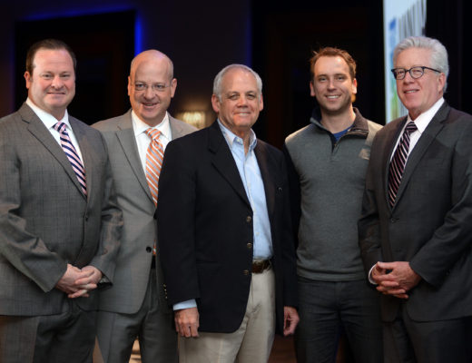 Kentucky life sciences leaders traveled to Cambridge for MassBio's Annual Meeting last month. Pictured here (l-r): Robert K. Coughlin, President & CEO, MassBio; Kyle Keeney, President & CEO, Kentucky Life Sciences Council; Kris Kimel, founder & CEO, Kentucky Space; Twyman Clements, President, Space Tango; John Hallinan, Chief Business Office, MassBio.